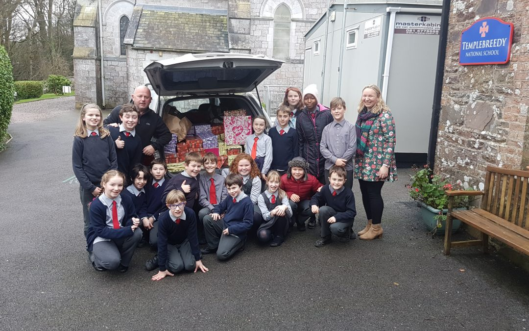 Christmas shoe boxes for Cork Penny Dinners